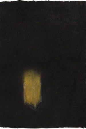 "Breath I. Charcoal and pastel on handmade rag, 590 x 380 mms (23"" x 15"")"