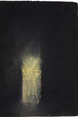 "Breath II. Charcoal and pastel on handmade rag, 590 x 380 mms (23"" x 15"")"