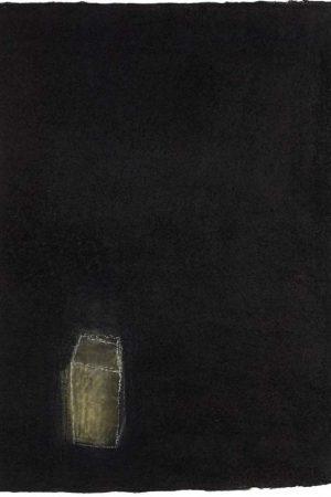 "Breath III. Charcoal and pastel on handmade rag, 590 x 380 mms (23"" x 15"")"