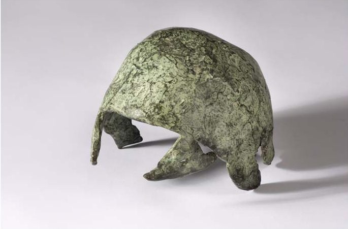 "Helmet, 1992. Bronze and patina. 150 x 160 x 190 mms (6 x 6.5 x 7.5"")"