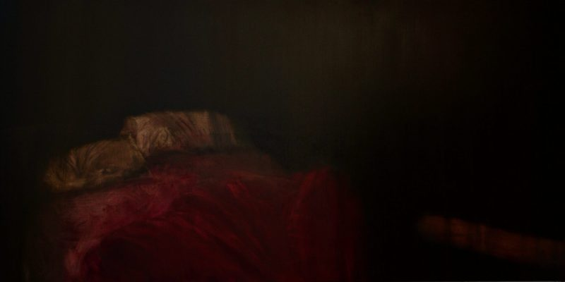 """Red Bed I, 2014. Oil on linen 1220 x 2440mm (48 x 96"""")"""